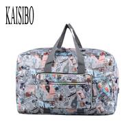KAISIBO Foldable Travel Bags Men Fashion Printing Waterproof Luggage Women High Quality 11 Colors Large Duffle