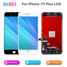 10PCS LCD For Apple iPhone 7 7 Plus Display Touch Screen Digitizer Assembly No Dead Pixel Complete Replacement AAA+++Free DHL 10pcs lot aaa no dead pixel lcd display for iphone 6 lcd screen touch digitizer screen cold press frame assembly dhl free ship