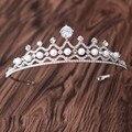Chegada nova Moda Noble Zircon crown Tiaras Diadema azorite Elegante Na Moda para a princesa headbands acessórios Do Cabelo Do Casamento