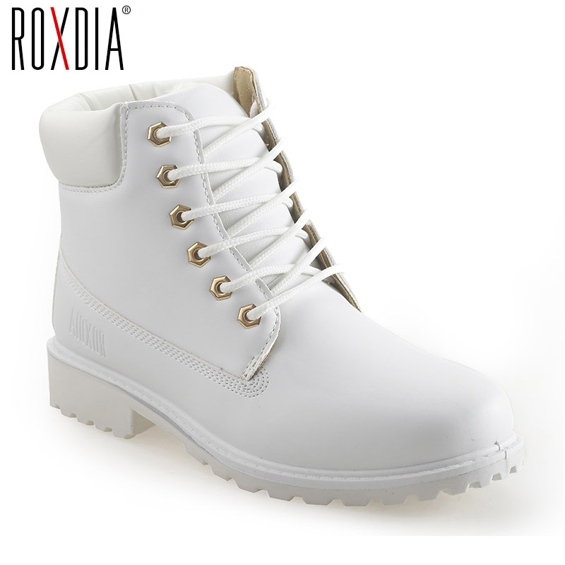 ROXDIA autumn winter women ankle boots new fashion woman snow boots for girls ladies work shoes plus size 36-41 RXW762 roxdia genuine leather men ankle boots snow winter warm fashion work male waterproof for mens shoes plus size 39 48 rxm051