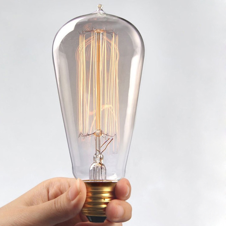 led incandescent in decorative item pendant lighting lamp light bulb edison from vintage bombilla bulbs filament