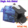Wholesale 1pcs Stabilized Single Axis Gimbal With NTSC PAL Camera For FPV Racing Drone 250 CC3D