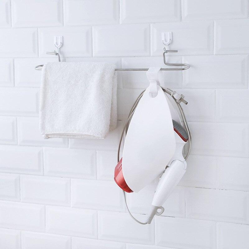 Bathroom Hair Dryer Storage Rack Shower Room Plastic Durable