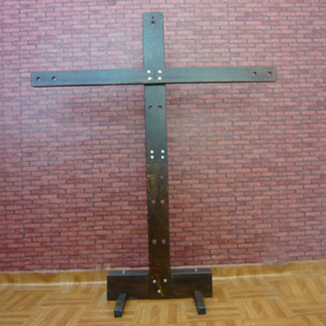 200 125cm Wooden Sex Cross Bondage Furniture Timber Binding Torture