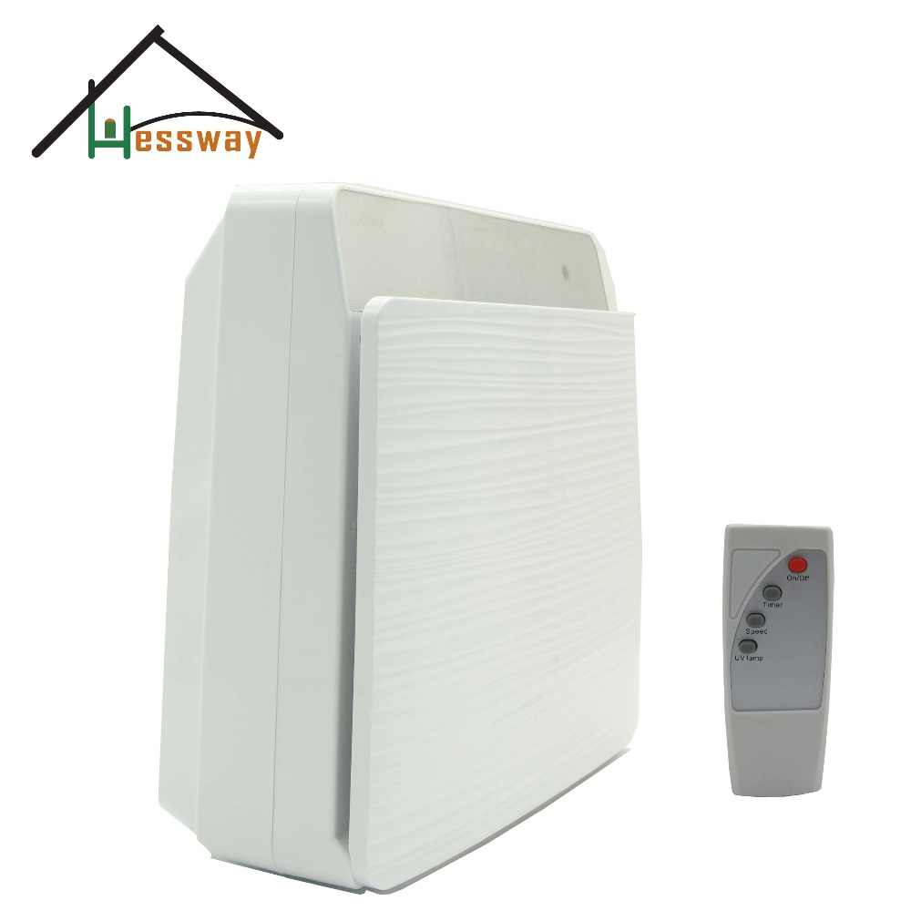 110 240VAC Power Wall mounted multifunctional HEPA Filter air purifier home with remote control
