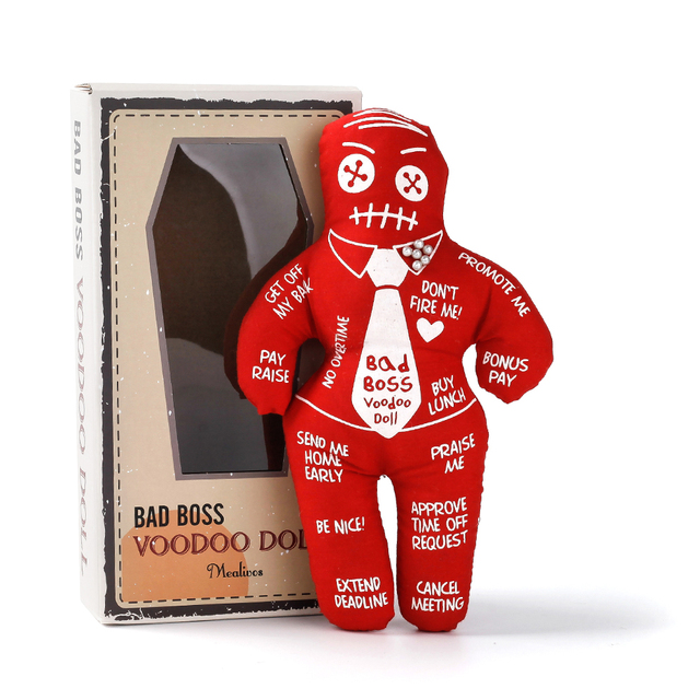 Mealivos Bad Boss Voodoo Doll stress relief reducer doll best novelty gift for pink elephant exchange