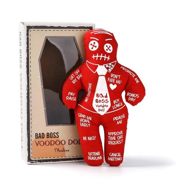 Mealivos 나쁜 보스 부두 인형 스트레스 릴리프 감속기 인형 핑크 코끼리 교환을위한 최고의 참신 선물