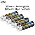 4 pcs sofirn 1.2 v nimh aa 2200 mah baterias recarregáveis de alta capacidade baterias conjunto pré-carregada com 1000 ciclo