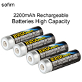 4pcs Sofirn 1.2V AA NiMh 2200mAh Rechargeable Batteries High Capacity Pre-charged Batteries Set With 1000 Cycle