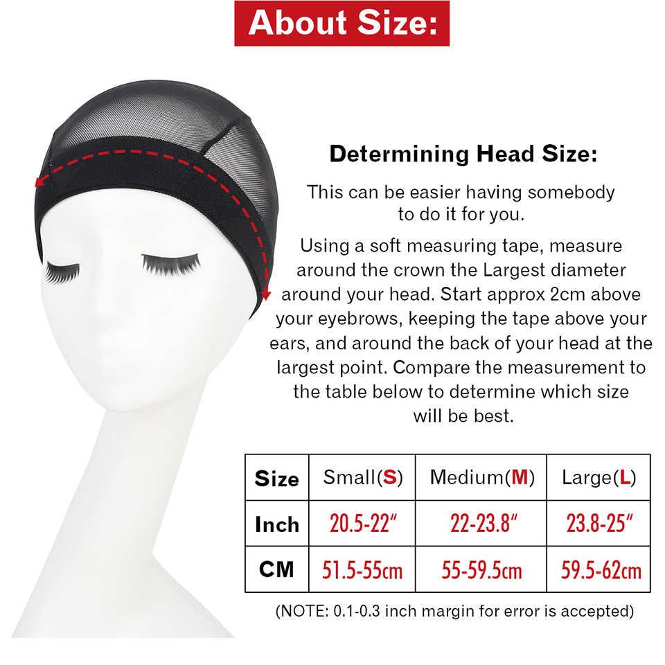 2018 Новая мода 1-10 шт. Толстая широкая полоса сетка купол стиль парик крышка дышащий идеально подходит черный S # M # L