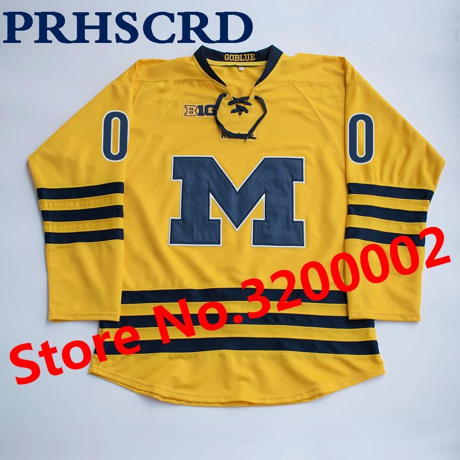 brand new 31367 2a08e US $39.59 10% OFF|University of Michigan 3 jack johnson Stitched Hockey  Jersey-in Hockey Jerseys from Sports & Entertainment on Aliexpress.com | ...