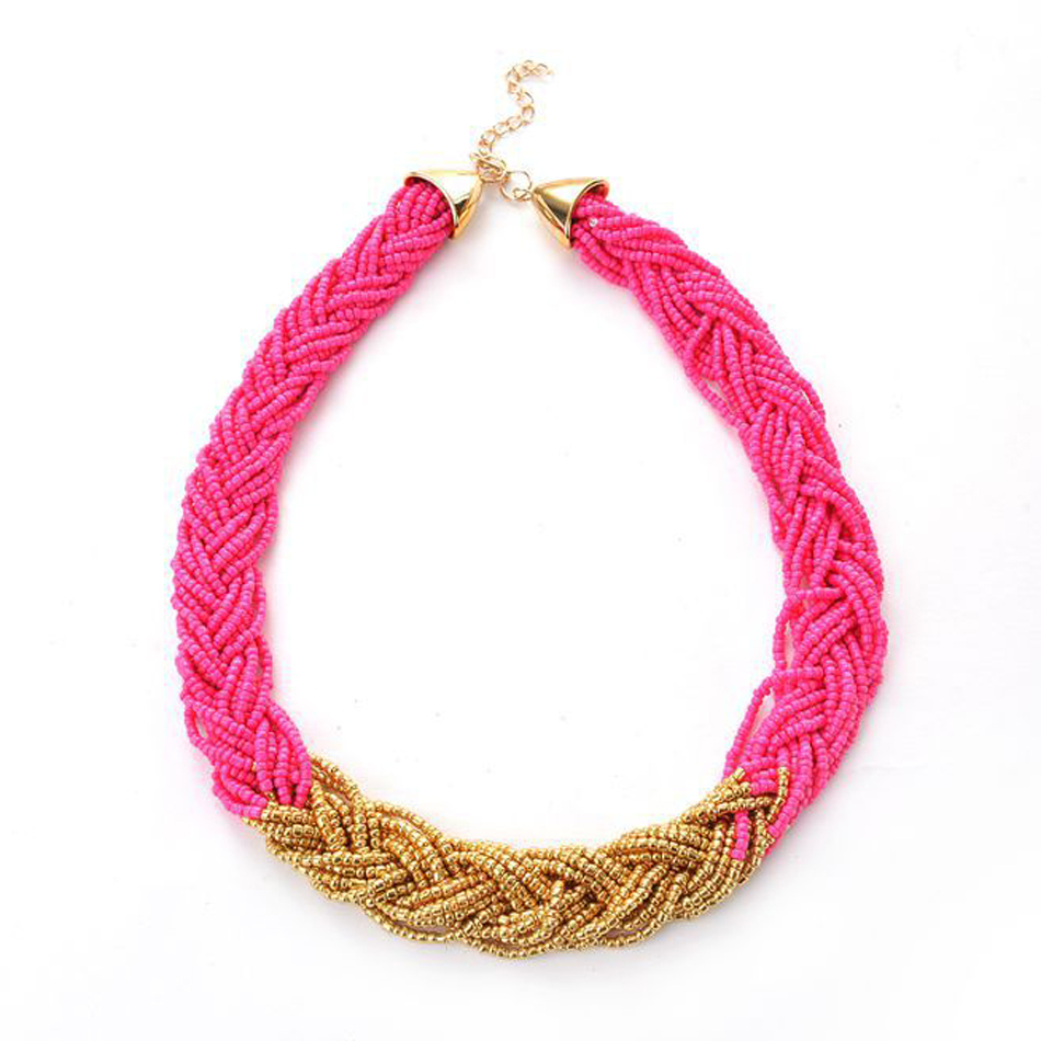 Exotic fashion jewelry - Aliexpress Com Buy Fashion Jewelry Wholesale Best Selling Exotic Measle Bead Necklace Candy Colored Braided Seed Beads Necklace Choker Dl909352 From
