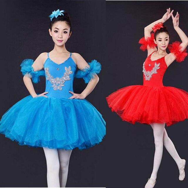 40b993da9 Hot Sale Blue Red Black Adult Professional Swan Lake Tutu Skirt ...