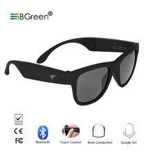 d21866eddc BGreen de conducción ósea Bluetooth inteligente deporte gafas de sol de  música estéreo inalámbrico gafas de