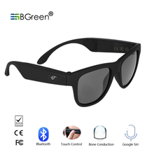 BGreen Bone Conduction Bluetooth Smart Sport Sunglasses Wire