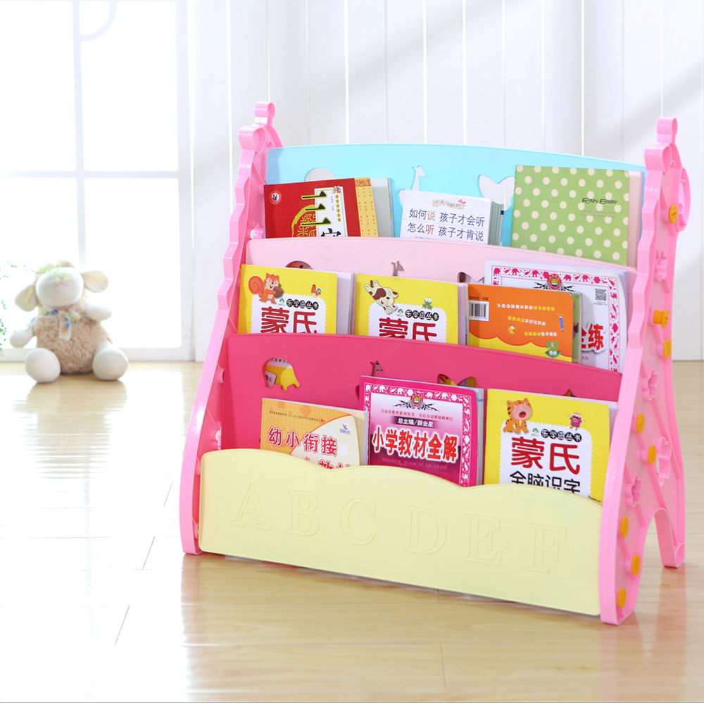 Hot Sale Cheap And Good Price Kindergarten Bookshelf Children Plastic Bookcase With Ladder