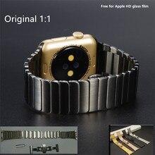 ВЫСОКОЕ Качество Черный Серебряный Ссылка Браслет Для Apple Watch Band 42 мм 38 мм Сделано Из Нержавеющей Стали 316L С Двух дополнительных Ссылок, Как подарки