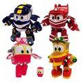 4pcs/set Robot Trains Transformation Kay Alf Dynamic Train Family Deformation Train Robot Car Kids Gifts Toys