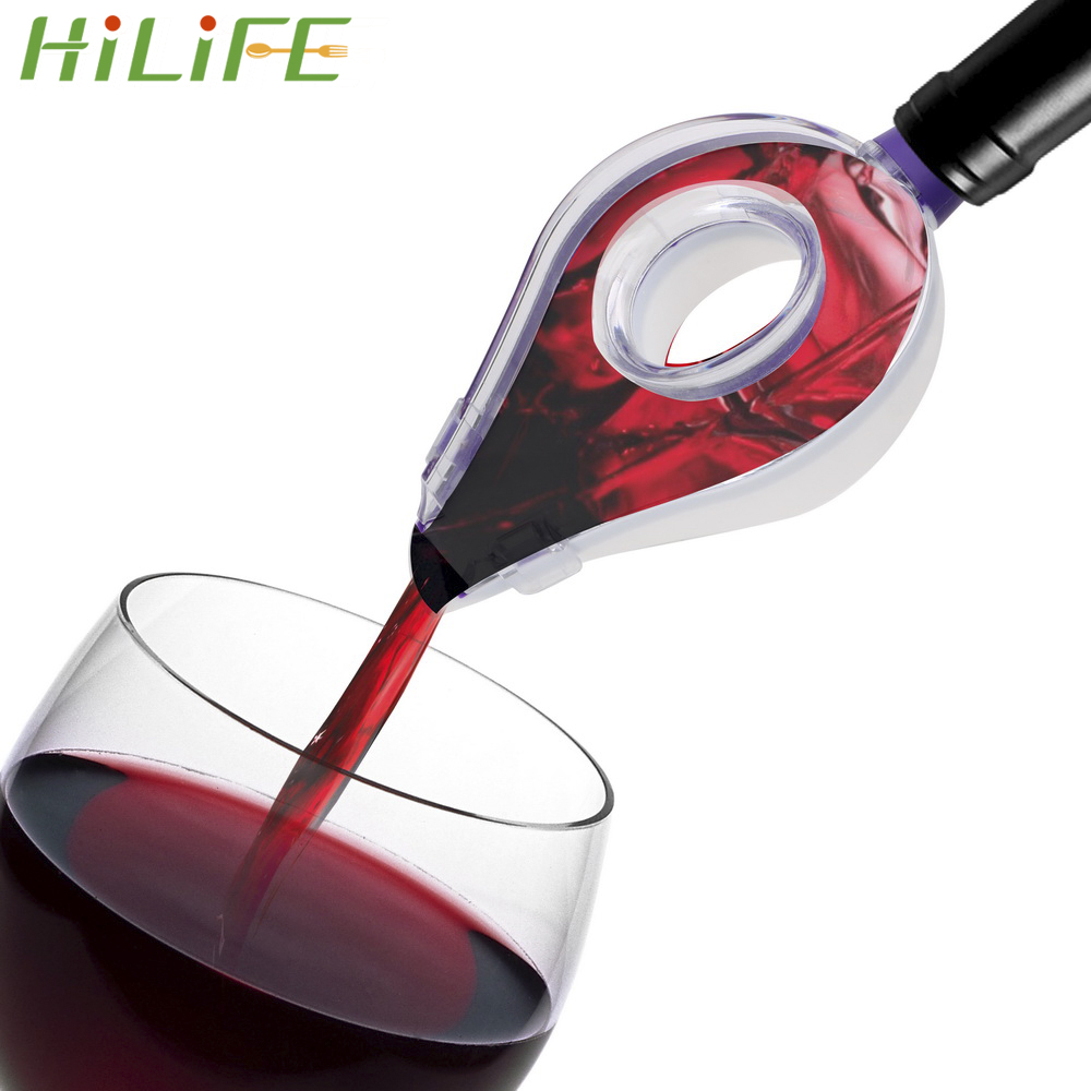 HILIFE Barware Bar Tools Decanter Liquor Spirit Pourer Wine Hopper Filter Red Wine Aerator