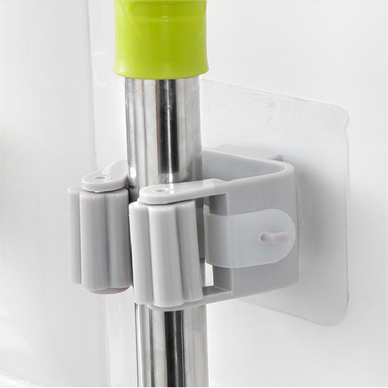 050 No punching hanging mop rack toilet mop hook bathroom broom rack clip holder mop holder 5 2 5 4 5cm in Hooks Rails from Home Garden