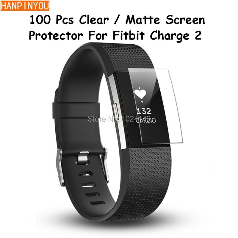 imágenes para 100 Unids HD Claro/Anti-Glare Protector de Pantalla Mate Para Fitbit Cargo 2 Pulsera Inteligente Protector de la Película Protectora con un Paño de Limpieza
