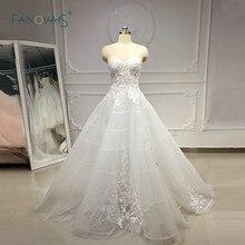 Unique Wedding Dresses 2019 Sweetehart A Line Lace Wedding Gown Boho Sheer Bridal Dress Wedding Vestido de Novia 2019 NW43