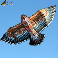 Free Shipping Outdoor Fun Sports High Quality 3.6m Super Power Chocolate Eagle Kite With Handle And Braided Line Good Flying
