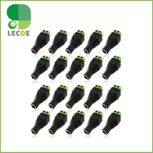 20pcs 2.1×5.5mm female DC Power Jack Adapter Plug Cable Connector for CCTV CAMERA
