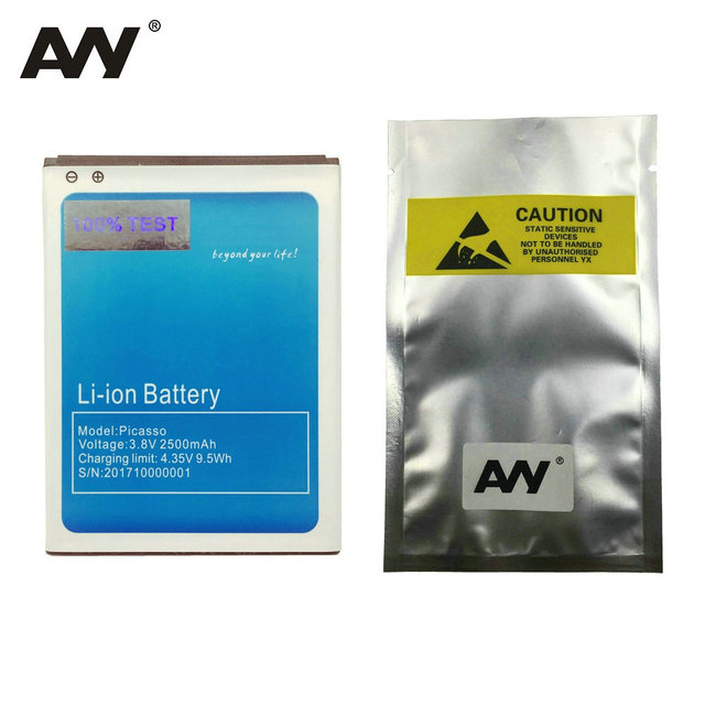 AVY 2500mAh Battery For Bluboo Picasso 3G 4G Mobile phone Replacement Li-ion Batteries 100% Tested in stock