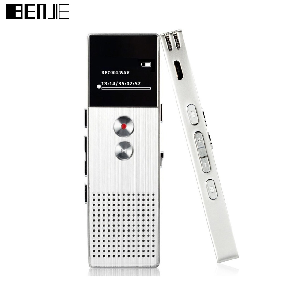 Original Benjie C6 MP3 Music Player Professional Audio Recorder 8GB Metal Voice Tracker Portable Business Digital
