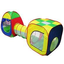 1 Unids Bebé Juego Juguetes Casa De Almacenamiento Carpa Cubículo-Tubo-Pop-up la Tienda Tipi 3 unid niños Túnel Aventura Niños Casa de Juguete K5BO