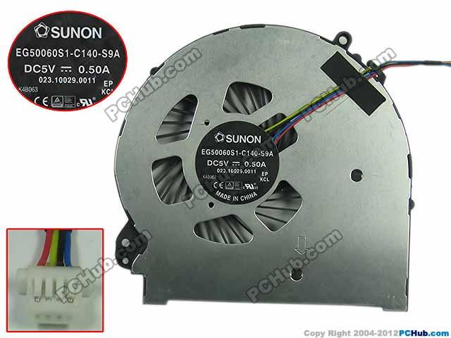 SUNON EG50060S1-C140-S9A DC 5V 0.50A 4-Wire 4-Pin Server Laptop Fan доска для объявлений dz 5 1 j9c 037 jndx 9 s c