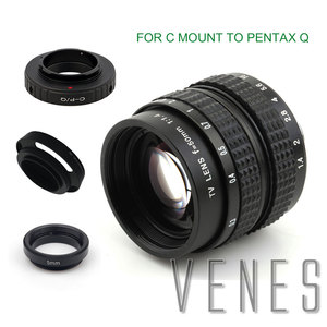 Image 2 - Venes lente de 50mm f/1,4 CC TV F1.4 para Nikon 1 M4/3 para Pentax Q Nex para Fuji FX EOS M A6300A5100 A6000 A5000 A3000 OM DE M10 II