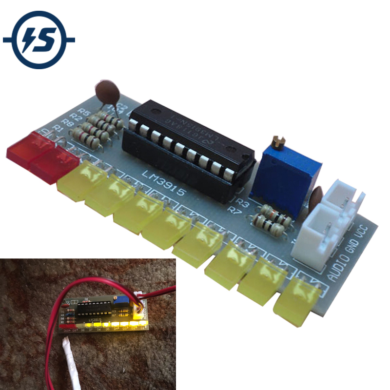 <font><b>LM3915</b></font> Audio Ebene Anzeige DIY Kit 10 LED Sound Audio Spektrum Analysator Ebene Anzeige Kit Electoronics Löten Set image