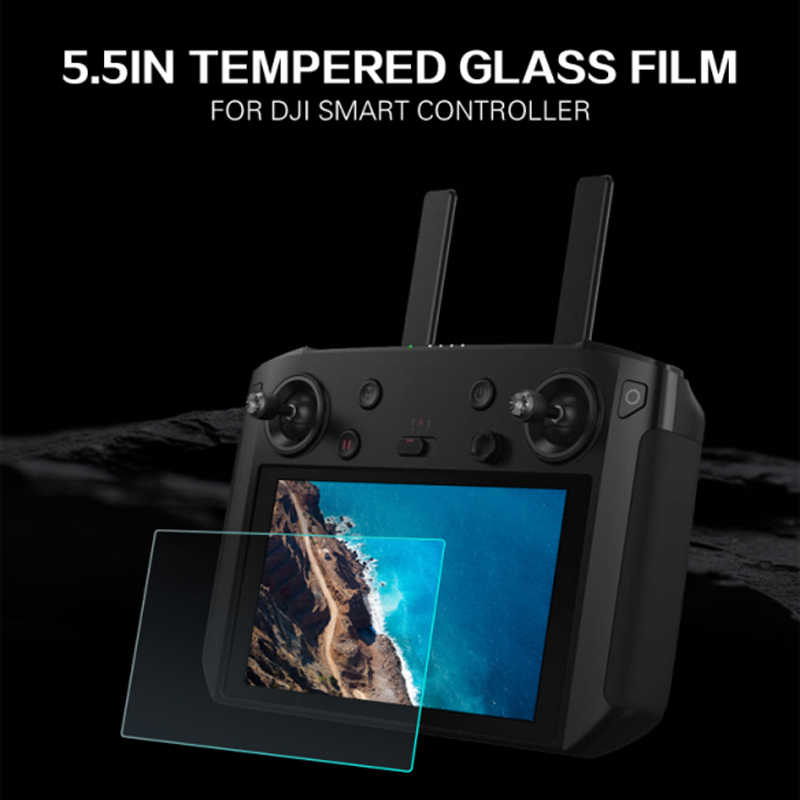 Protective Film for DJI Smart Controller 5.5inch 9H Tempered Glass Screen Film for DJI Mavic 2 Drone Remote Control with Screen