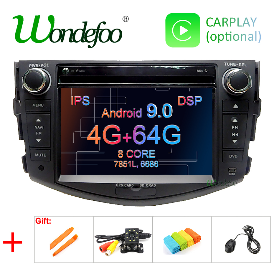 DSP IPS 2 din Android 9 0 64G Car DVD player For Toyota RAV4 Rav 4