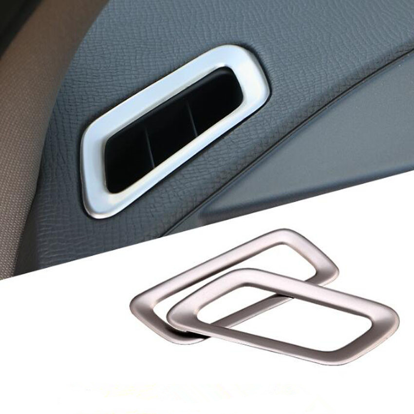 For Volvo XC60 2014 2015 2016 2017 Stainless Steel Car Dashboard Air Condition Vent Decoration Frame Car Stickers Accessories|Interior Mouldings| |  - title=