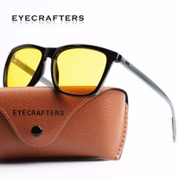 22a57eb8d2 Eyecrafter New Night Vision Sunglasses Men Brand Designer Fashion Polarized  Night Driving Enhanced Light At Rainy