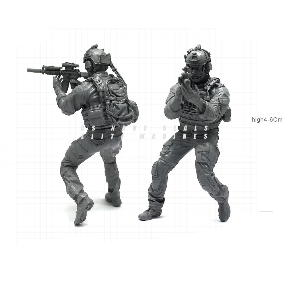 1/35 Modern U.S Navy Seals Elite Marines Veteran Military Soldier Resin Model Figure NAI-24
