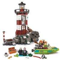 437pcs Diy Scooby Doo Haunted Light house Building Blocks Model Compatible With Bricks Toys For Children Brithday gift