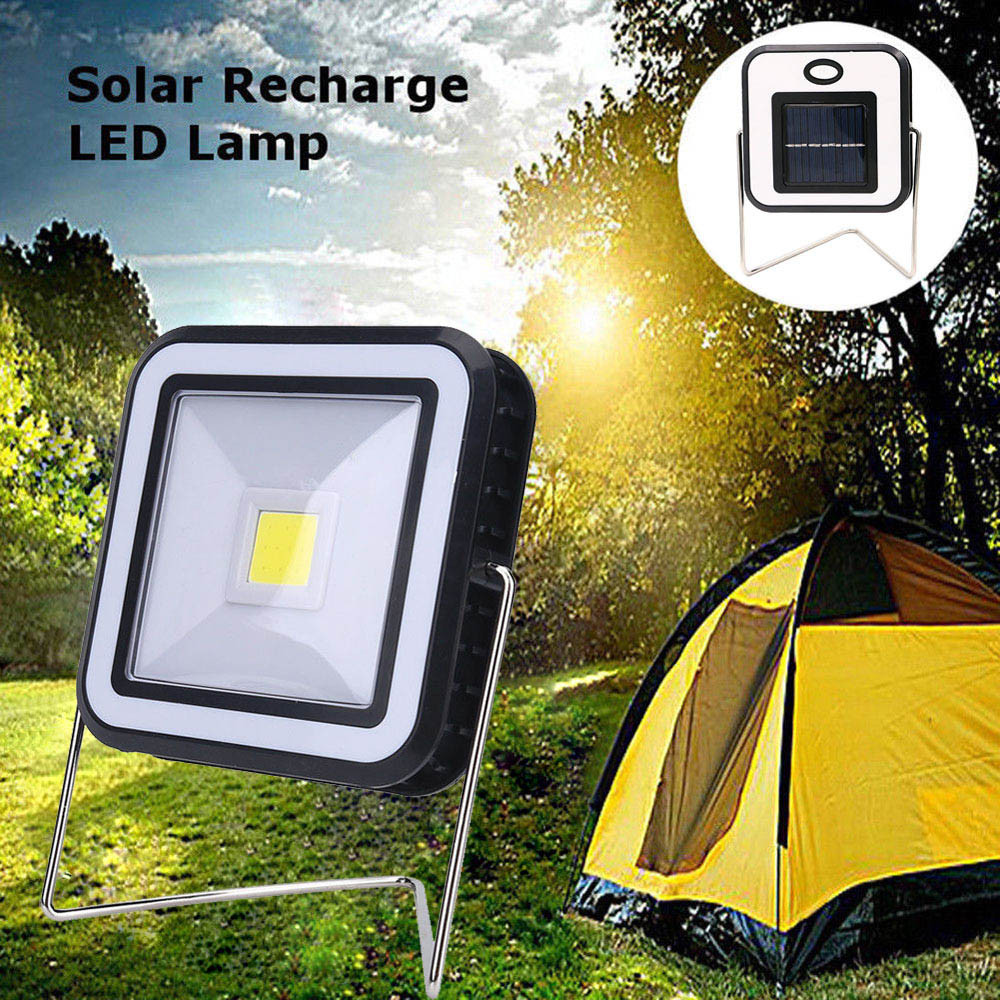 Bike light 2-Mode Bright LED Camping Lantern Solar Power Rechargeable Hiking Emergency L ...