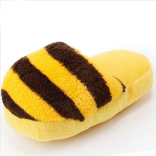 Hot Sale Pet dog Toys Width 17cm Plush Slippers Dog Toys 6 colors Puppy Dog Tou Squeaky Chew Toys For Universal Pet Supplier