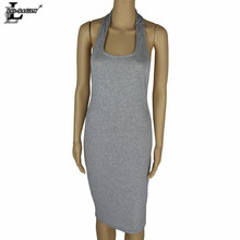 Lei SAGLY New Arrival Women Backless Dress Fashion Sexy Halter Nightclub Spring Pencil