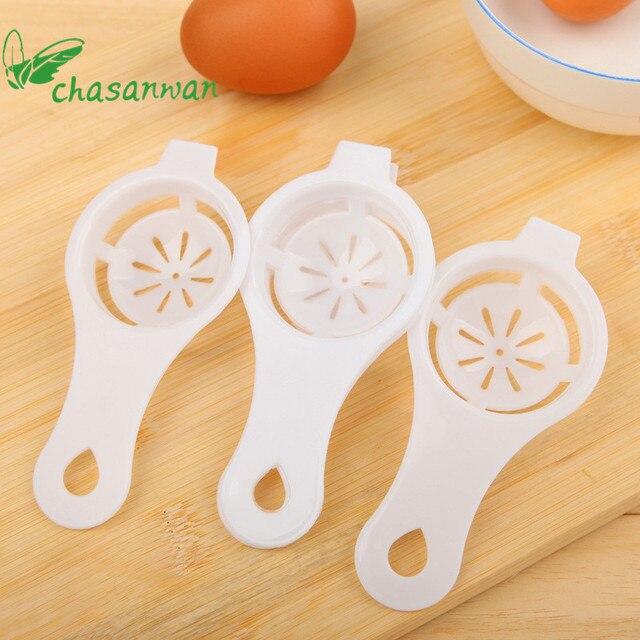 1pc plastique oeuf blanc jaune séparateur Cuisine Accessoires oeuf filtre diviseur pour Cuisine Cuisine Outils Accessoires Cozinha. L 5