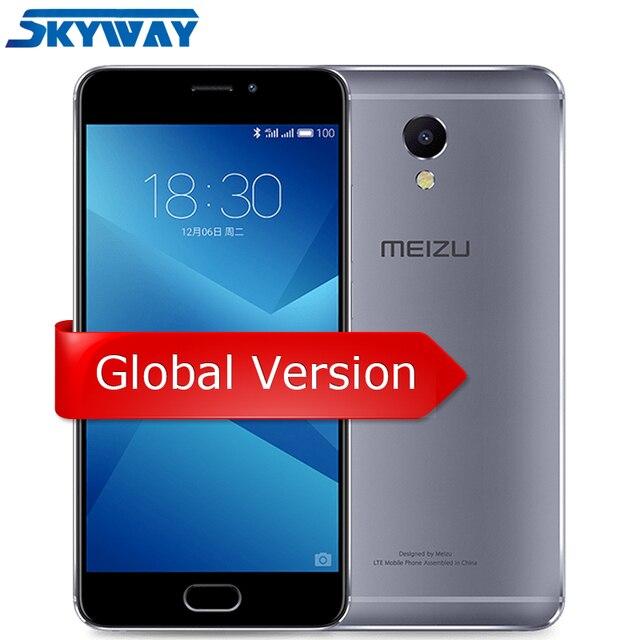 """Meizu 5M Note, Мировая Версия M621H 4G LTE Helio P10, Восьмиядерный Мобильный Телефон, 5,5"""" 1080P, 3ГБ ОЗУ, 16ГБ/32ГБ ПЗУ, Отпечаток Пальца"""