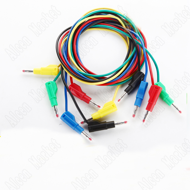 Smonisia20pcs-500pcs 2.5mm Elastic Retractable Jacket Test Cable High Voltage Banana Plug 4mm Gun Type Stackable 1pcs yt191 high voltage 4 mm banana plug test lead cable wire 100 cm for multimeter the probes gun type banana plugs