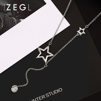 ZEGL Star Necklace Personality Necklace Pendant chokers necklaces for women