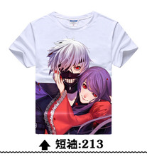 New 2017 Anime T-Shirt Anime Novelty Summer Women Men T-Shirt Tokyo Ghoul T Shirt Animation Man Cosplay Costume Clothing W-5