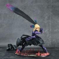 Action figure Fate/stay night Black Saber cartoon doll PVC 18cm box packed japanese figurine world anime