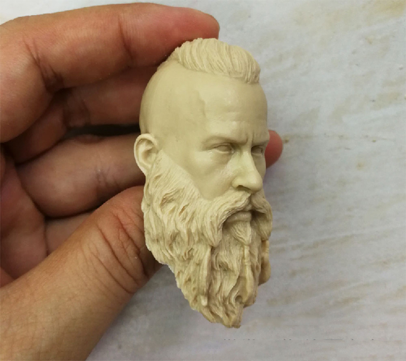 1/6 Viking Unpainted Head Sculpt For 12''Bodies Action Figures